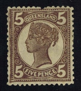 Queensland Scott 119 Unused lightly hinged with pulled perforation.
