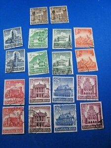 GERMANY 1940  -  SCOTT # B177-B185  -  Used - LOT OF 2 COMPLETE SETS