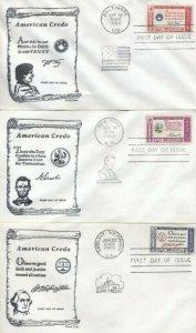 1139/1144 AMERICAN CREDO SET - 6 Cascade covers