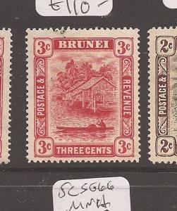 Brunei 1908 3c SG 38 MOG (1cbb)