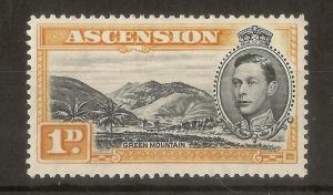 Ascension 1938 1d SG39a P13.5 Mint