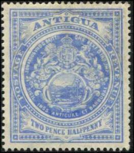 Antigua SC# 34a SG# 46a Colonial Seal 2-1/2d  WMK 3 Lite Blue MH