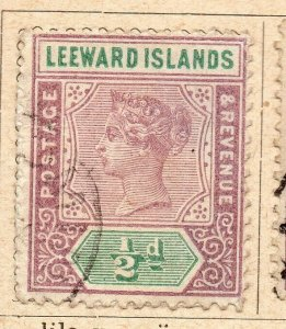 Leeward Islands 1891 Early Issue Fine Used 1/2d. NW-11894