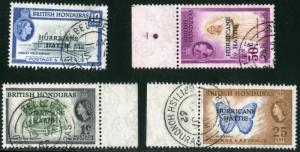BELIZE-BRITISH HONDURAS - #163 THRU 166, USED SET OF 4 STAMPS- 1962 - BELHON001