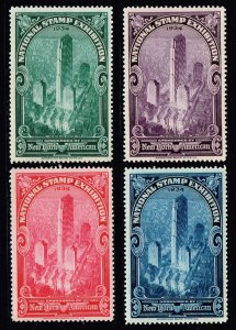 US STAMP 1934 NATIONAL STAMP NY EXHIBITION STAMPS SET NEW YORK MNH/OG  FRESH