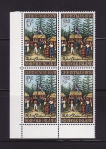 Norfolk Island 143 Block of 4 Set MNH Christmas (B)