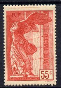 France 1937 National Museums 55c scarlet mounted mint wel...