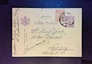 Romania Early Uprated Postal Card Used (Light Creasing) - Z890