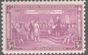 USA Scott 798 MNH** Constitution Sesquicentennial 1937