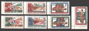 Kinshasa. 1963. 131-37. Forest industry, timber harvesting. MNH.