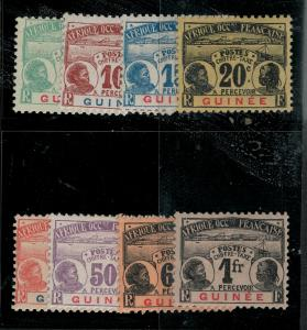 French Guinea 1906-1908 SC J8-J15 Mint SCV $136.00 Set
