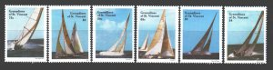 Saint Vincent and the Grenadines. 1988. 570-75. Sport yachts. MNH.