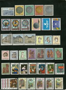 Luxembourg - 10 Different Mint Sets - Over $40 Scott Catalog Value  #2
