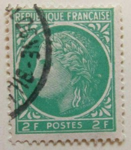 A8P9F125 France 1945-46 2fr used