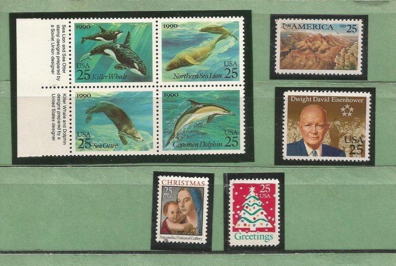 US Postage Stamps MNH (8 stamps)