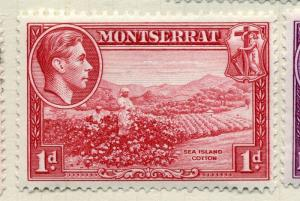 MONTSERRAT;    1938 early GVI issue fine Mint hinged value  1d.