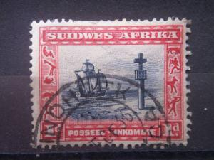 SOUTH WEST AFRICA, 1931, used 1p, loose pair, Scott 109