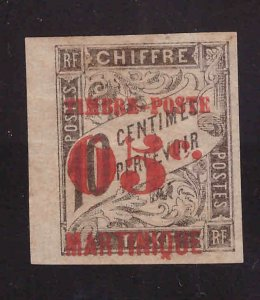 Martinique Scott 26 MH* surcharged stamp CV$14.50