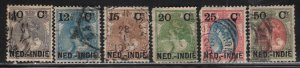 Netherlands Indies # 31-37 ~ Short Set 6 of 7 ~ Used, Fair,  MX Condtions