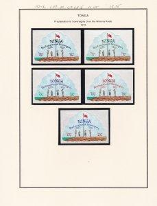 Tonga # 312-316, C119-123, CO63-65, Sovereignty over Minerva Reefs, NH, 1/2 Cat.