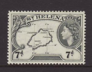1953 St Helena 7d Mounted Mint SG161.