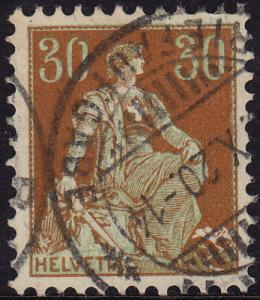 Switzerland - 1908 - #134 - used - Helvetia
