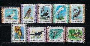 MONTSERRAT SCOTT #231-239 1970-74 BIRDS SHORT SET- MINT LIGHT HINGED