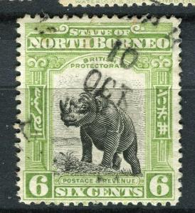 NORTH BORNEO; 1909 early Pictorial issue fine used 6c. value + Postal cancel
