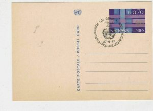 Geneva United Nations 1977  stamps card ref 21668