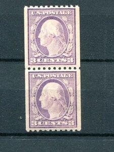 USA #489  Pair  Mint VF NH  - Lakshore Philatelics