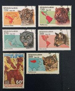 Benin, Republic Du Benin, 1999. Sc#1190-4, Wild Cats, Animal