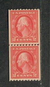 US Sc#442 M/NH/F-VF, Coil Line Pair, Cv. $130