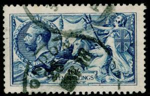 SG412, 10s blue, FINE USED. Cat £800. DE LA RUE