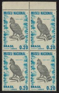 Brazil Harpy Eagle Bird Block of 4 SG#1215 MI#1173 CV£50+