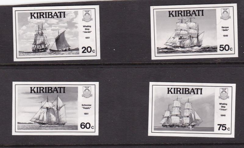 Kiribati 1989 Nautical History promotion black and white prints Mint Condition