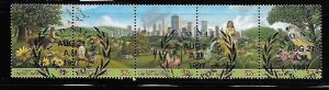 UNITED NATIONS 678-682, 682a USED STRIP OF 5, CITY SUMMIT, HABITAT 2