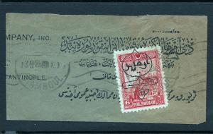 Turkey 1928 overprint stamp on meter piece unique BIN $4.00