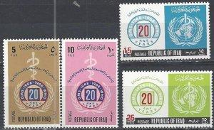 Iraq  479-82  MNH  UN WHO 20th Anniversary