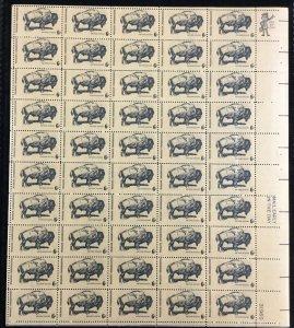 1392    American Buffalo Wildlife Conservation   MNH 6 c Sheet of 50   FV $3.00