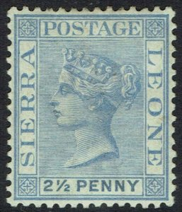 SIERRA LEONE 1884 QV 21/2D WMK CROWN CA