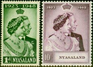 Nyasaland 1948 RSW Set of 2 SG161-162 Fine Mtd Mint