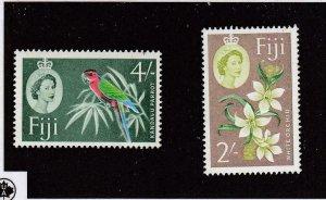 FIJI (MK6466,A) # 184,186 MNH/ #56-USED 1893 FIJIAN CANOE / QE2 PARROT/ORCHID