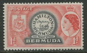 Bermuda - Scott 144 - QEII Definitive -1953 - MLH - Single - 1p Stamp