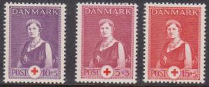 Denmark - 1939-1940 Semi-Postal Set VF-NH #B9-B11