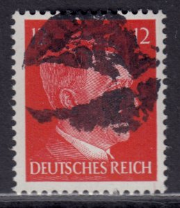Germany Soviet Zone SBZ - LOCAL BLOSENBERG 12Pf HITLER head - Expertized Richter