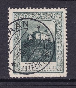 Liechtenstein a good used 60Rp from the 1930 set