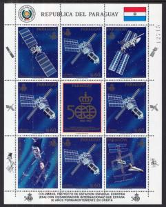 Paraguay 2265 Space Sheet MNH VF