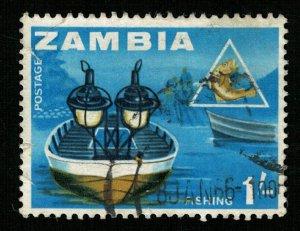 Fishing, 1/-, Zambia (Т-6417)