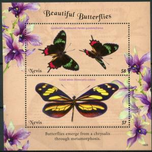 Nevis Butterfly Stamps 2018 MNH Beautiful Butterflies Swallowtail Mimic 2v S/S