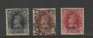 STAMP STATION PERTH Patiala #98,99,101  Used